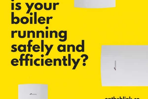 boiler on yellow background